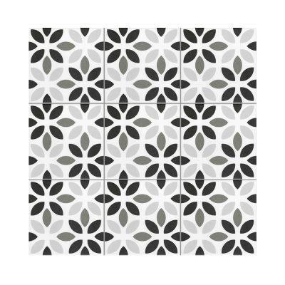 Serie MADLEINE, Lyla Negro Feinsteinzeug 20×20 / 0,8 cm (R9), Preis: 59,00 € / m² *