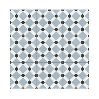 Serie TOLEDO, Cadiz Azul Feinsteinzeug 20×20 / 0,8 cm (R9), Preis: 45,00 € / m² *