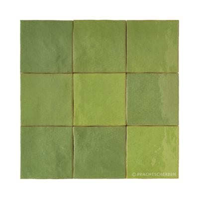 Serie MALAGA, Verde Hiebra 10×10 / 1,0 cm, Preis: 62,00 € / m² *