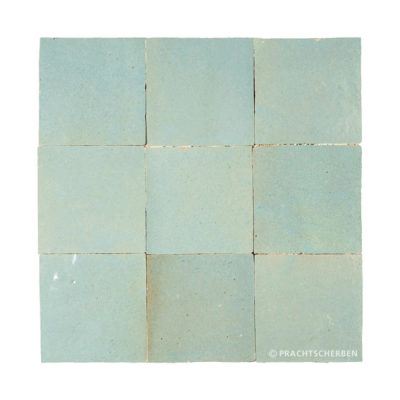 ZELLIGES aus Marokko, glasierte Terracotta, Aqua Bleu Nr. 43 , 10×10 / 1,0 cm, Preis: 140,00 € / m² *