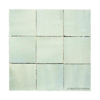 ZELLIGES aus Marokko, glasierte Terracotta, Aqua Clair Nr. 31 , 10×10 / 1,0 cm, Preis: 140,00 € / m² *