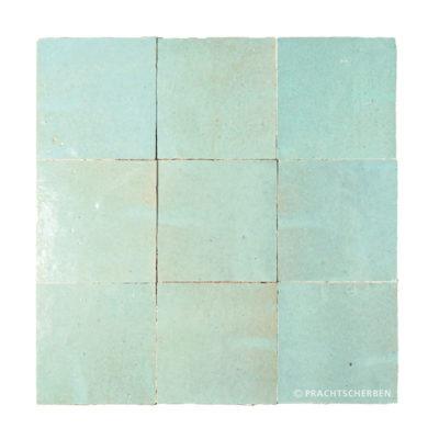 ZELLIGES aus Marokko, glasierte Terracotta, Aqua Vert Nr. 21 , 10×10 / 1,0 cm, Preis: 140,00 € / m² *