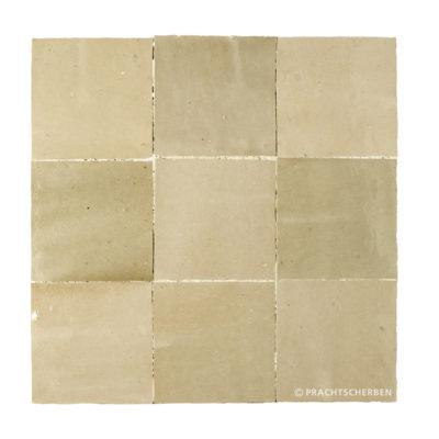 ZELLIGES aus Marokko, glasierte Terracotta, Beige Gris Nr. 34 , 10×10 / 1,0 cm, Preis: 140,00 € / m² *