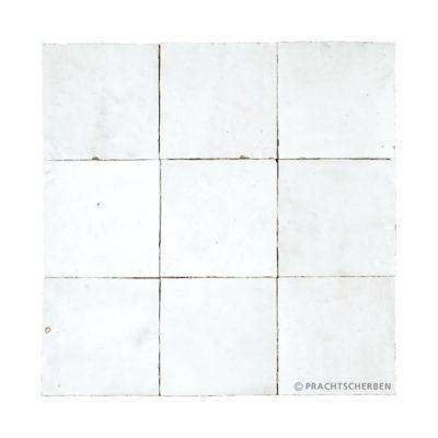 ZELLIGES aus Marokko, glasierte Terracotta, Blanc Clair Nr. 25 , 10×10 / 1,0 cm, Preis: 140,00 € / m² *