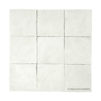 ZELLIGES aus Marokko, glasierte Terracotta, Blanc Maroc Nr. 01 , 10×10 / 1,0 cm, Preis: 140,00 € / m² *