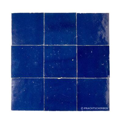 ZELLIGES aus Marokko, glasierte Terracotta, Bleu Cobalto Nr. 05 , 10×10 / 1,0 cm, Preis: 140,00 € / m² *