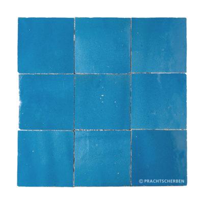 ZELLIGES aus Marokko, glasierte Terracotta, Bleu Nr. 04 , 10×10 / 1,0 cm, Preis: 140,00 € / m² *
