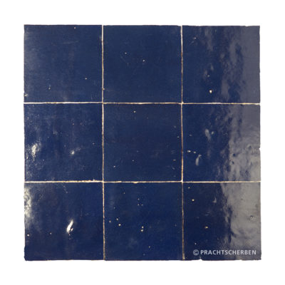 ZELLIGES aus Marokko, glasierte Terracotta, Bleu Nuit Nr. 27 , 10×10 / 1,0 cm, Preis: 140,00 € / m² *
