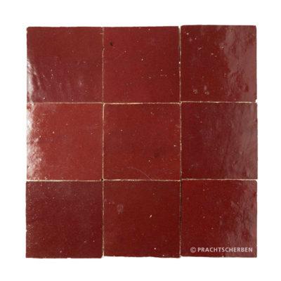 ZELLIGES aus Marokko, glasierte Terracotta, Bordeaux Nr. 03 , 10×10 / 1,0 cm, Preis: 140,00 € / m² *