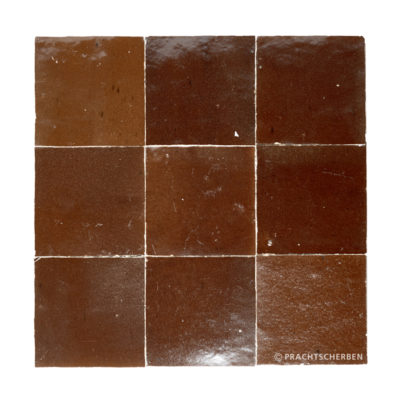 ZELLIGES aus Marokko, glasierte Terracotta, Chocolate Nr. 17 , 10×10 / 1,0 cm, Preis: 140,00 € / m² *