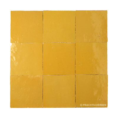 ZELLIGES aus Marokko, glasierte Terracotta, Jaune Nr. 06 , 10×10 / 1,0 cm, Preis: 140,00 € / m² *