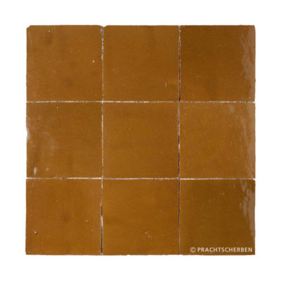ZELLIGES aus Marokko, glasierte Terracotta, Miel Nr. 14 , 10×10 / 1,0 cm, Preis: 140,00 € / m² *