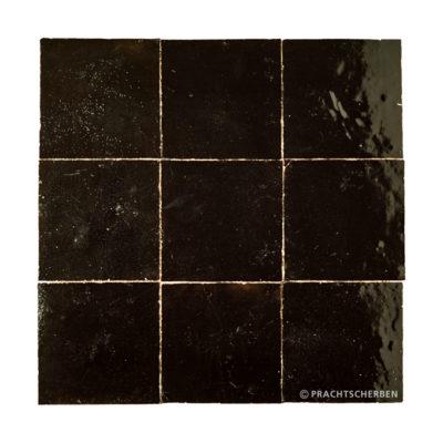ZELLIGES aus Marokko, glasierte Terracotta, Noir Nr. 29, 10×10 / 1,0 cm Preis: 140,00 € / m² *
