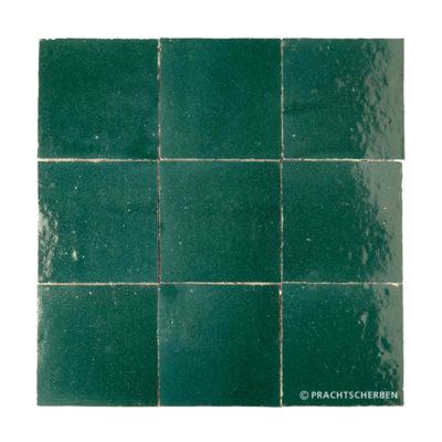 ZELLIGES aus Marokko, glasierte Terracotta, Petrol Nr. 40 , 10×10 / 1,0 cm, Preis: 140,00 € / m² *