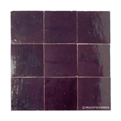 ZELLIGES aus Marokko, glasierte Terracotta, Prune Nr. 30 , 10×10 / 1,0 cm, Preis: 140,00 € / m² *