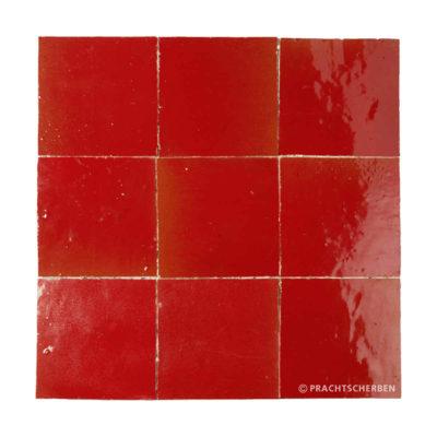 ZELLIGES aus Marokko, glasierte Terracotta, Rouge Nr. 28 , 10×10 / 1,0 cm, Preis: 140,00 € / m² *
