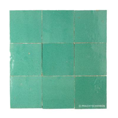 ZELLIGES aus Marokko, glasierte Terracotta, Turquoise Nr. 07 , 10×10 / 1,0 cm, Preis: 140,00 € / m² *