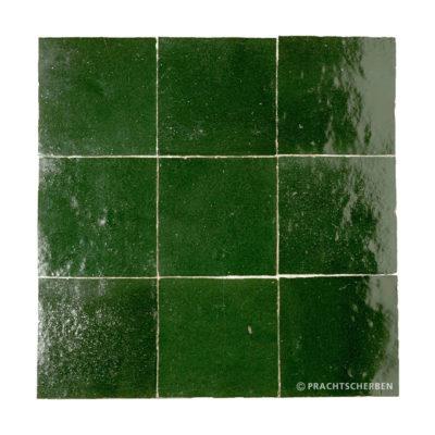 ZELLIGES aus Marokko, glasierte Terracotta, Vert Foncé Nr. 32 , 10×10 / 1,0 cm, Preis: 140,00 € / m² *