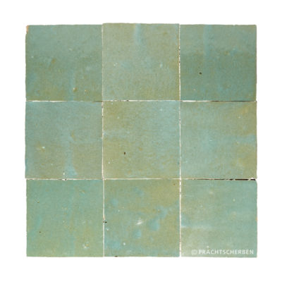 ZELLIGES aus Marokko, glasierte Terracotta, Vert Gris Nr. 26 , 10×10 / 1,0 cm, Preis: 140,00 € / m² *