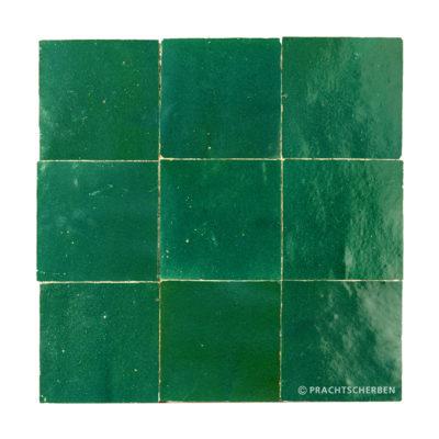 ZELLIGES aus Marokko, glasierte Terracotta, Vert Maroc Nr. 08 , 10×10 / 1,0 cm, Preis: 140,00 € / m² *