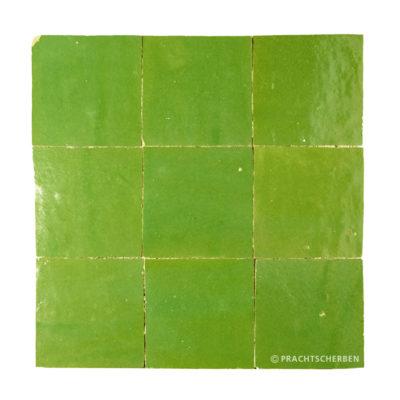 ZELLIGES aus Marokko, glasierte Terracotta, Vert Pomme Nr. 10 , 10×10 / 1,0 cm, Preis: 140,00 € / m² *
