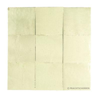ZELLIGES aus Marokko, glasierte Terracotta, Vert Tilleul Nr. 41 , 10×10 / 1,0 cm, Preis: 140,00 € / m² *
