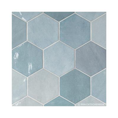 Serie ZAHARA HEX, Aqua, 10,8×12,4 cm Preis: 89,00 € / m² *