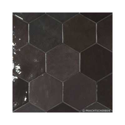 Serie ZAHARA HEX, Graphit, 10,8×12,4 cm Preis: 89,00 € / m² *