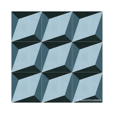 Serie GEO, Cube Azul Feinsteinzeug 20×20 / 0,9 cm (R10), Preis: 75,00 € / m² *
