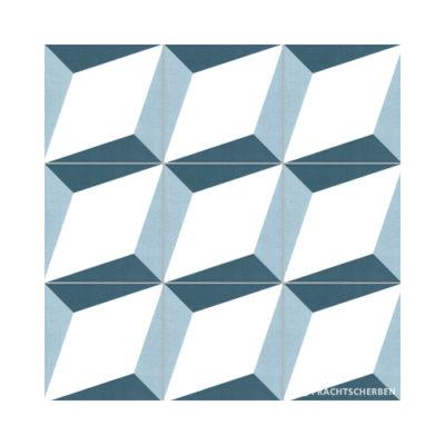 Serie GEO, Cube Blanco, Feinsteinzeug 20×20 / 0,9 cm (R10), Preis: 75,00 € / m² *