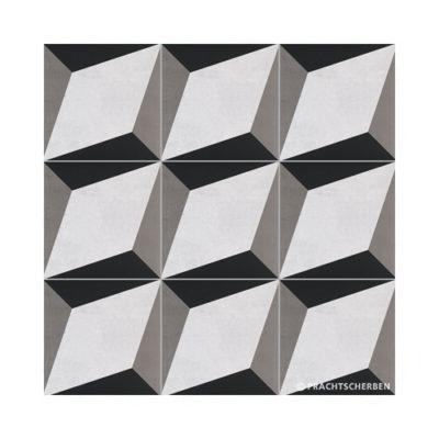 Serie GEO, Cube Gris Feinsteinzeug 20×20 / 0,9 cm (R10), Preis: 75,00 € / m² *