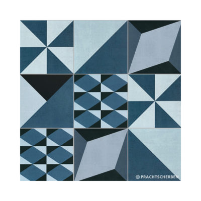 Serie GEO, MIX À LA CARTE Azul Feinsteinzeug 20×20 / 0,9 cm (R10), Preis: 82,00 € / m² *