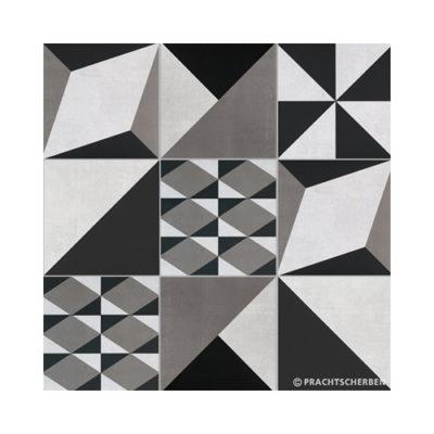 Serie GEO, MIX À LA CARTE Gris Feinsteinzeug 20×20 / 0,9 cm (R10), Preis: 82,00 € / m² *