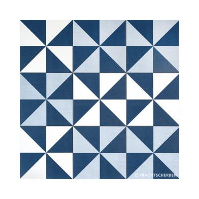 Serie GEO, Molino Azul & Blanco Feinsteinzeug 20×20 / 0,9 cm (R10), Preis: 75,00 € / m² *