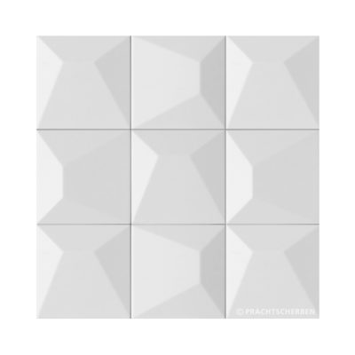 3D-NILO, blanco mate, 12,5×12,5 cm Preis: auf Anfrage