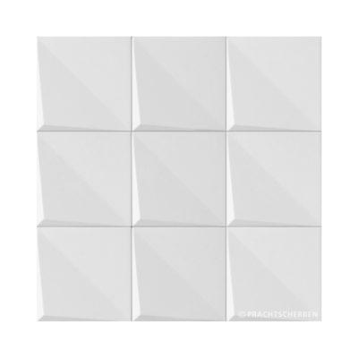 3D-NOUDEL, blanco mate, 12,5×12,5 cm Preis: auf Anfrage