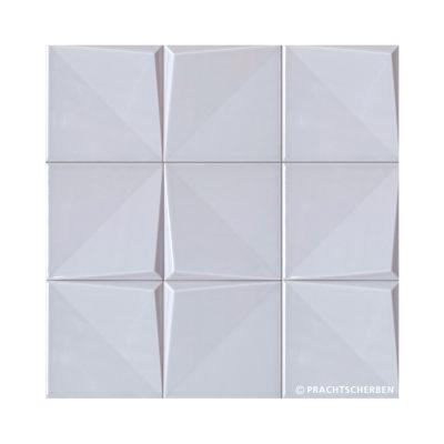 3D-NOUDEL, grey glossy, 12,5×12,5 cm Preis: auf Anfrage