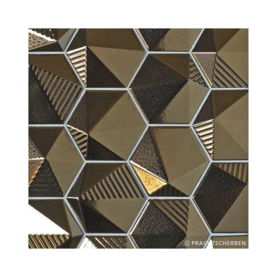3D-UMBRELLA, gold-metallic, 12,4×10,7 cm Preis: auf Anfrage