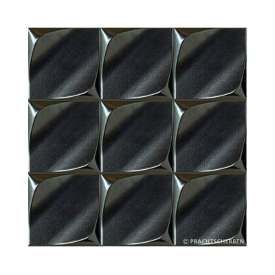 3D-WAVE, silver metallic, 12,5×12,5 cm Preis: auf Anfrage