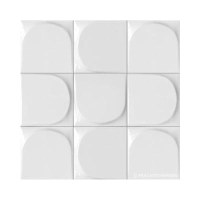 3D-WEDGE, blanco brillo, 12,5×12,5 cm Preis: auf Anfrage