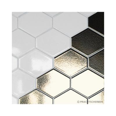 BEEYARD, white & gold, 12×12 cm Preis: auf Anfrage